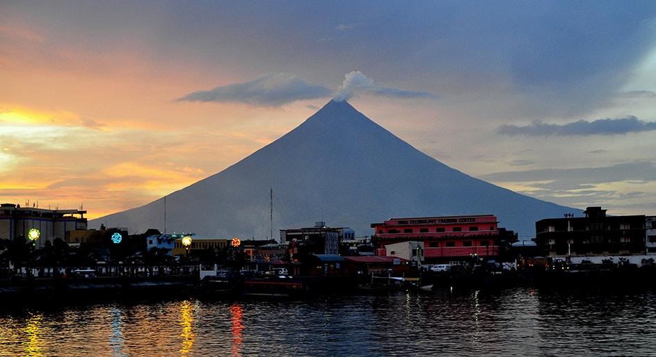 Mayon on the coast of albay Gulf