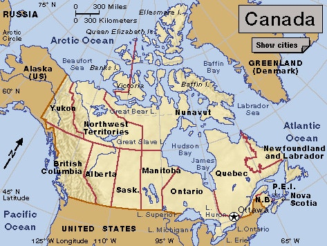 Map Of Canada Maps Of Canada Canada Label Canadian Provinces Map - Quebec usa map