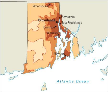 Population Density In Rhode Island Map World Book Student - Rhode island us map