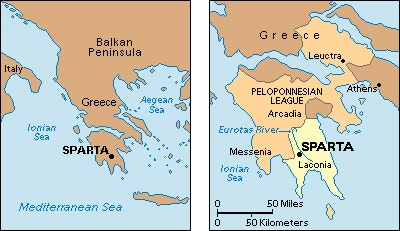 Map of sparta greece italy map 2017 gumiabroncs Image collections