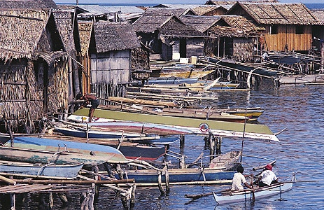 Fishing village in the Philippines.